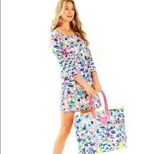 "LILLY PULIZER Beacon ""Pina Colada Club"" dress"